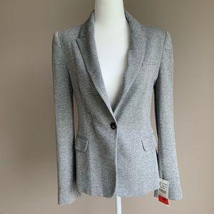 NWT Zara Basic Gray Sparkly Blazer Jacket Size S